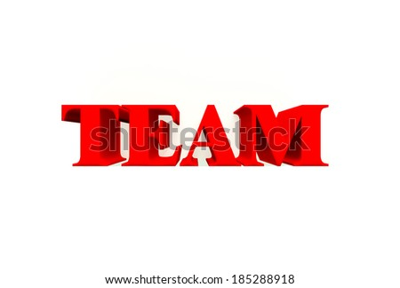 3D Team word. Isolated white background. - stock photo