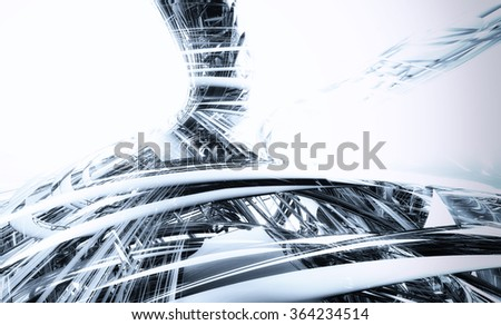 3d technology abstract background - stock photo