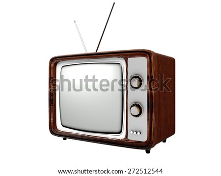 3D. Television, Retro Revival, Old. - stock photo