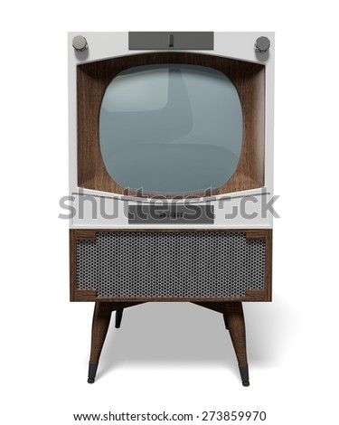 3D. Television, Retro Revival, Old-fashioned. - stock photo