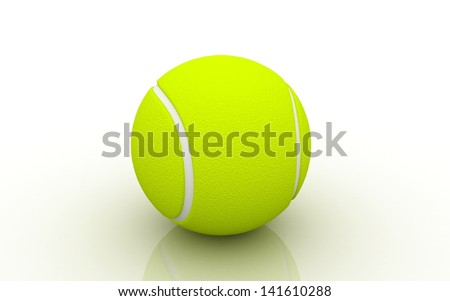 3d tennis ball on white background