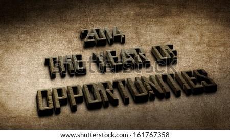 3D Text 2014 - stock photo