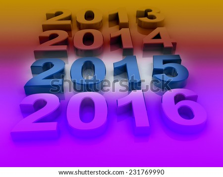 3d 2015 text background stock image - stock photo