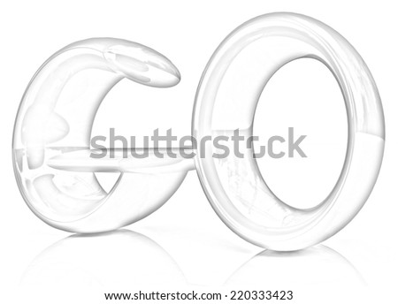 "3d text ""go"" on a white background. Pencil drawing"