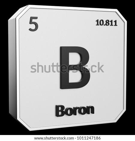 3 D Text Chemical Element Boron Atomic Stock Illustration 1011247186