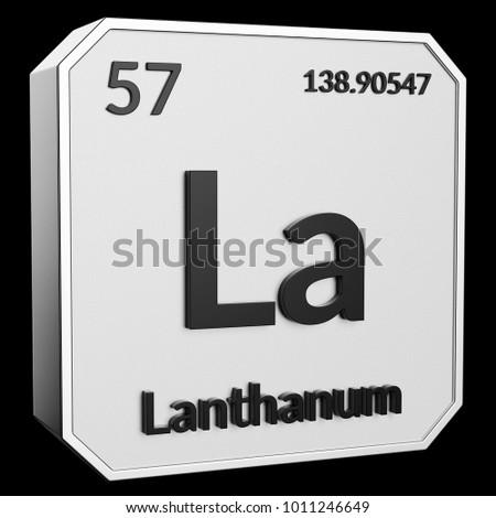 3 D Text Chemical Element Lanthanum Atomic Stock Illustration