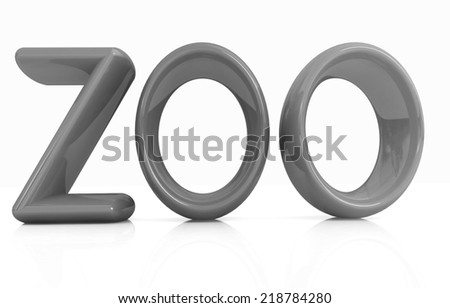 "3d text ""Zoo"" on a white background - stock photo"