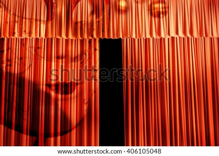 3d,The ghost is going to appear  - stock photo