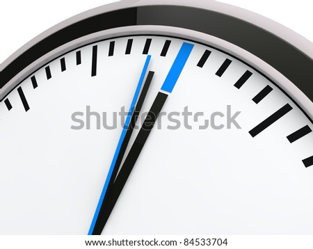 3d time clock deadline countdown blue watch
