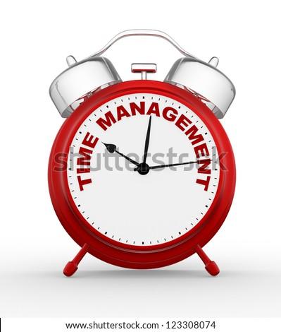3d time to management. Concept clock closeup. 3d render - stock photo