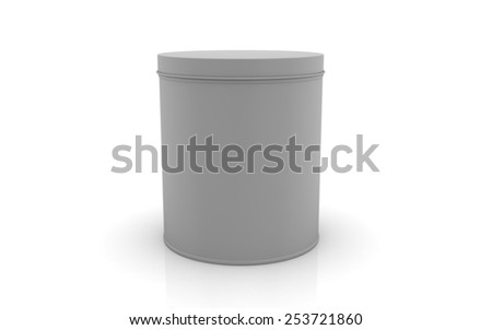 3d tin isolated on white background - stock photo