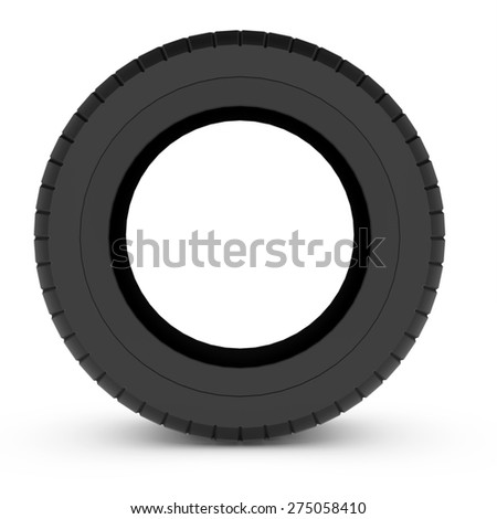 3d tire car isolated over white background