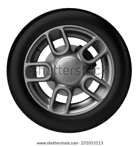 3d tire isolated on white background.digitally generated image.