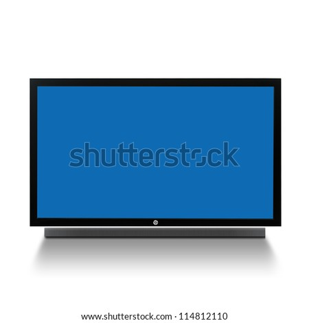 3D TV on white background - stock photo