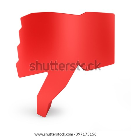 3d unlike symbol isolated white background. - stock photo