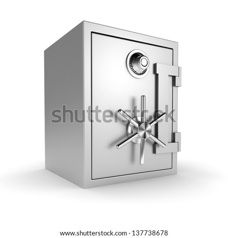 3d vault on white background - stock photo