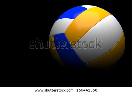 3d volleyball isolated - stock photo