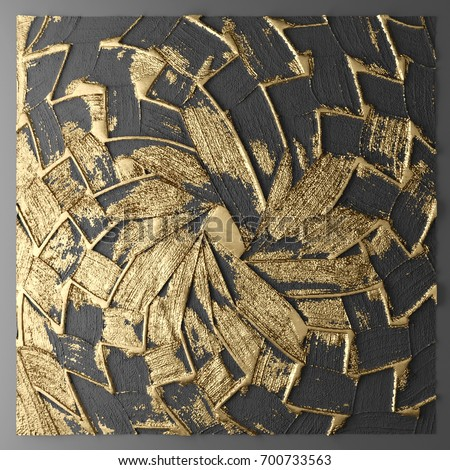 3D Wall Art Paintings With Gold Leaf