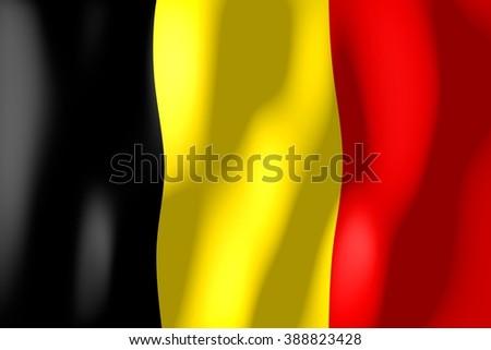 3D weaving flag concept - Belgium. - stock photo
