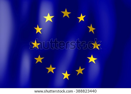 3D weaving flag concept - European Union. - stock photo