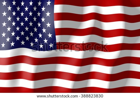 3D weaving flag concept - The United States of America (USA, America). - stock photo