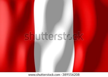 3D weaving flag - Peru. - stock photo