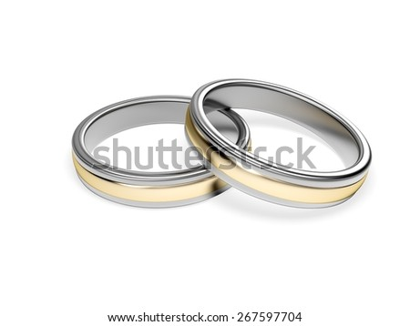 3D. Wedding Ring, Ring, Silver.
