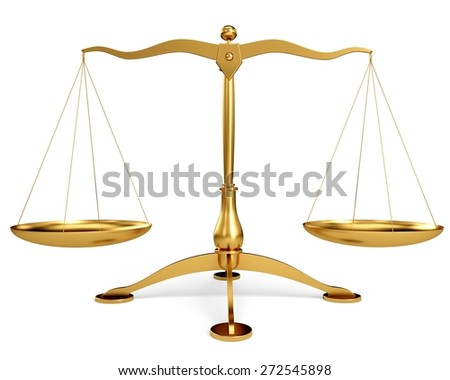 3D. Weight Scale, Law, Stability. - stock photo