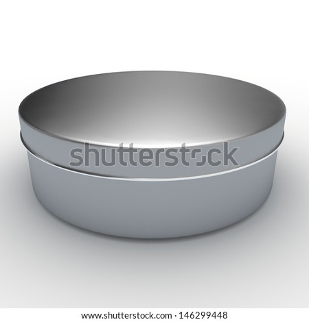 3d white, aluminum cream container, packaging for new products in isolated background with clipping paths, work paths included - stock photo