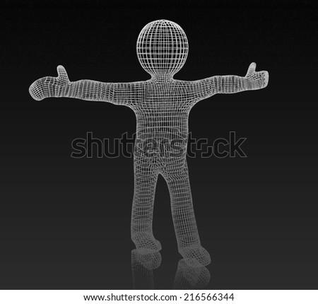 3d white man. Medical icon  - stock photo