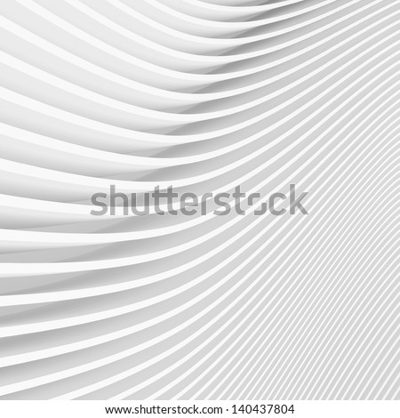 3d White Modern Building Background - stock photo