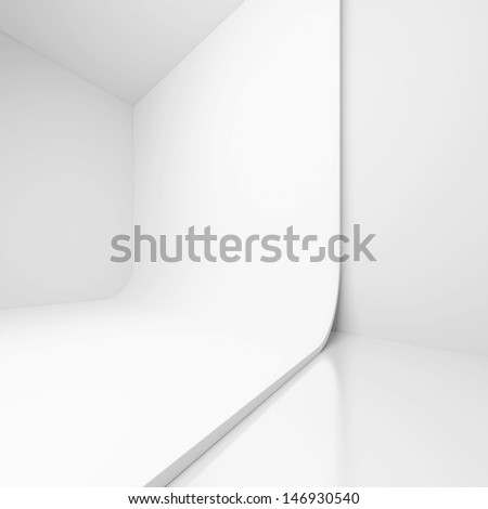 3d White Modern Interior Design - stock photo