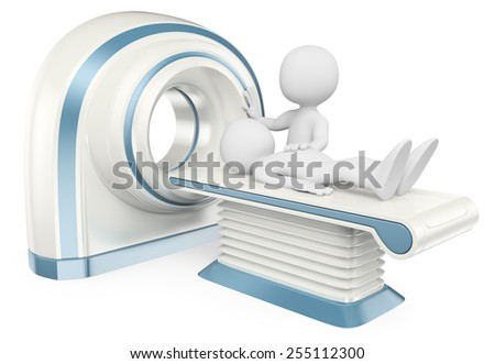3d white people. Computed tomography. Medical. CT. Isolated white background. - stock photo