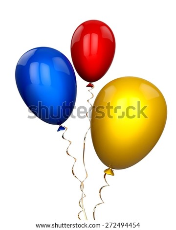 3D. Wind, Balloon, Motion. - stock photo