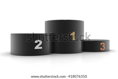 3D winners Podium,Sports Tribune - stock photo