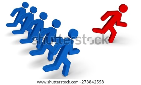 3D. Winning, Occupation, Competition. - stock photo