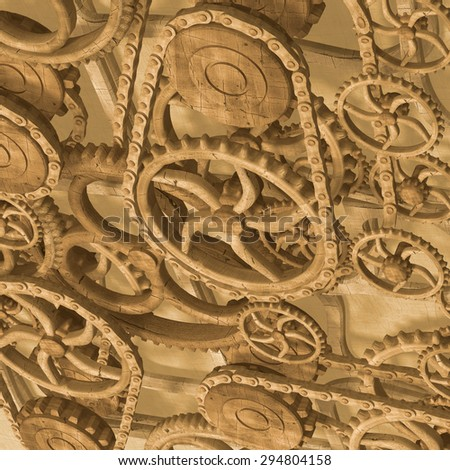 3d, wood texture background - stock photo