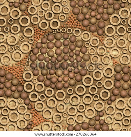 3d wooden pattern, seamless - stock photo
