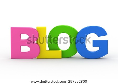 3d word Blog on a white background - stock photo