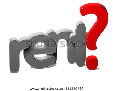 3D Word Rent on white background  - stock photo