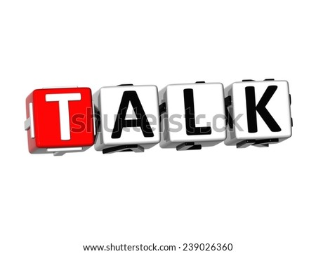3D Word Talk on white background    - stock photo
