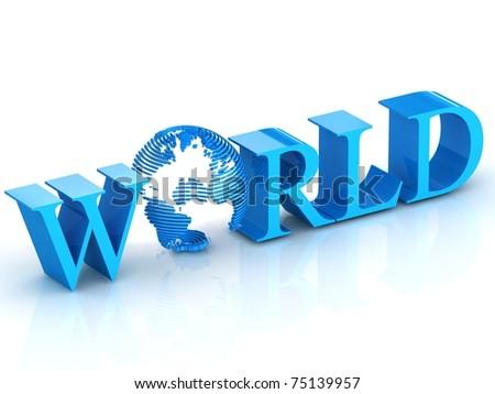 3d world - stock photo