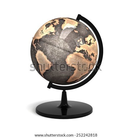 3d world globe - stock photo