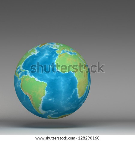 3d world globe(Elements of this image furnished by NASA) - stock photo
