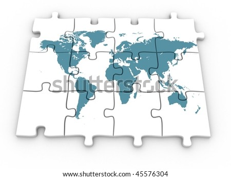 3d world map on jigsaw puzzle stock illustration 45576304 shutterstock 3d world map on jigsaw puzzle gumiabroncs Image collections