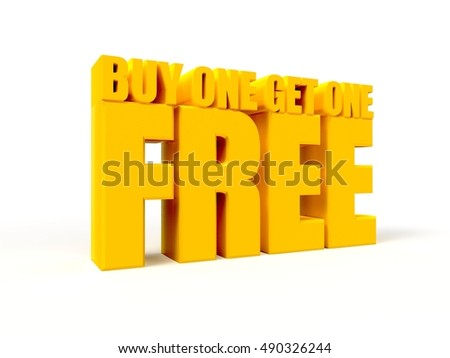 3d Yellow Buy One Get One Free