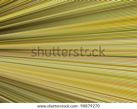 3d yellow color abstract striped backdrop render - stock photo