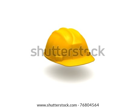 3D Yellow Hard Hat