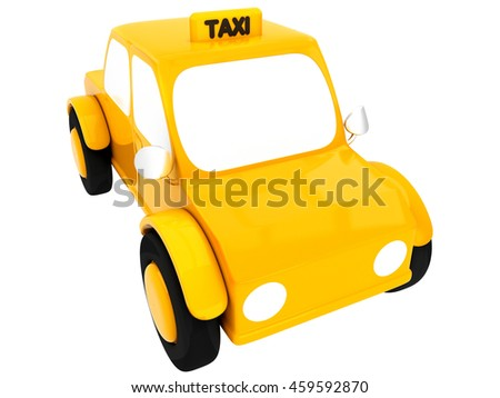 3D Yellow Taxi