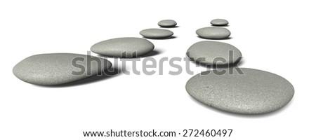 3D. Zen-like, Buddhism, Pebble.
